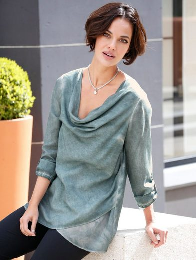 Amy Vermont Blouse With Waterfall Cutout