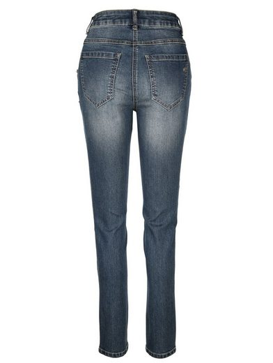Amy Vermont Jeans mit Paillettenapplikation