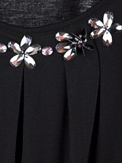 Amy Vermont Shirt mit Perlen und Plättchendekoration