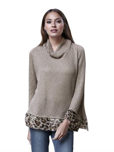 Amy Vermont Pullover mit Leomuster