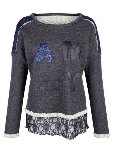 Amy Vermont Sweatshirt Mit Paillettendekoration