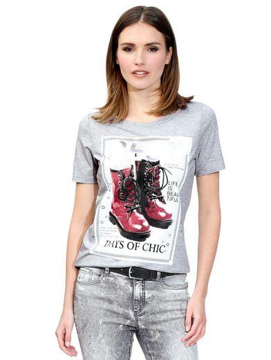 Amy Vermont Shirt mit glitzerndem Motivdruck