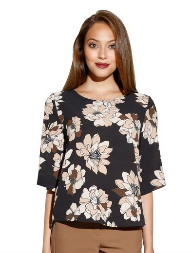 Amy Vermont Bluse allover floral bedruckt