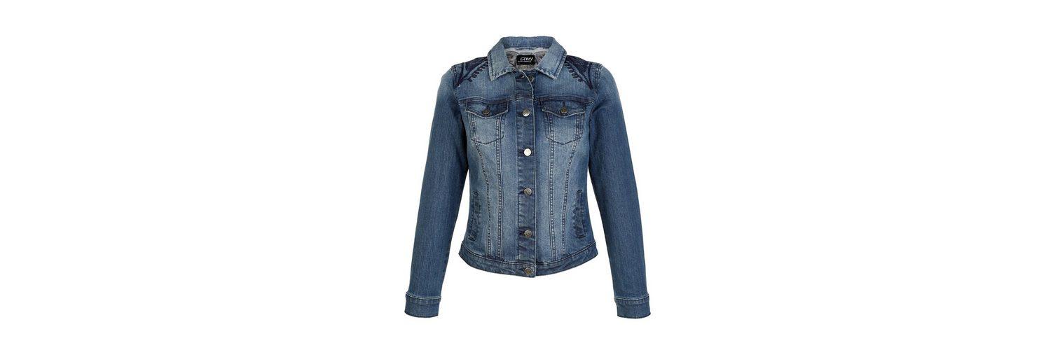 Geschäft Amy Vermont Jeansjacke mit Stickerei Billig Verkauf Angebote uJT3xbgJ