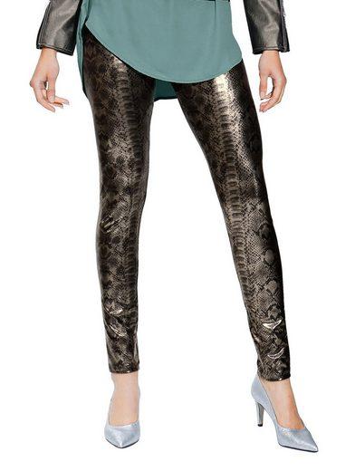 Amy Vermont Leggings mit Metallic-Beschichtung