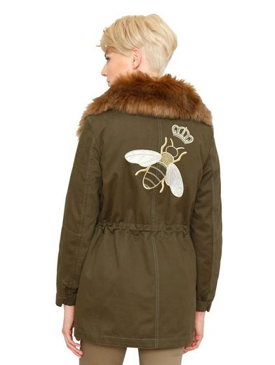 Amy Vermont Parka With Bee Embroidery