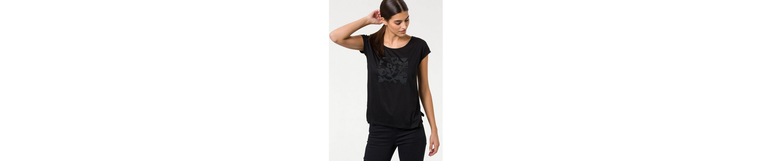 BROADWAY NYC FASHION T-Shirt Lene, mit hochwertigem Perlen-Print