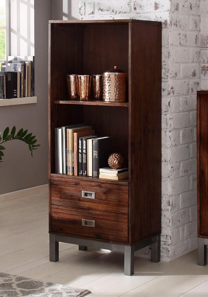 home affaire regal mit 2 schubladen kenya h he 140 cm online kaufen otto. Black Bedroom Furniture Sets. Home Design Ideas
