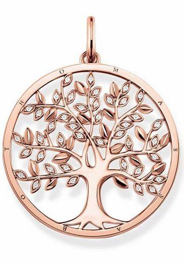 THOMAS SABO Kettenanhänger »Tree of Love, PE759-416-14« mit Zirkonia