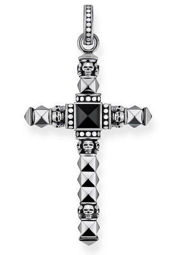 Herren THOMAS SABO Kreuzanhänger Ethno KreuzKlein PE774-698-11 mit Onyx schwarz | 04051245316513
