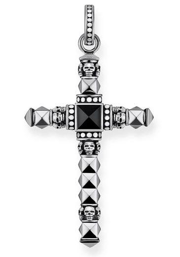 THOMAS SABO Kreuzanhänger »Ethno Kreuz Schwarz Klein, PE774-698-11« mit Onyx