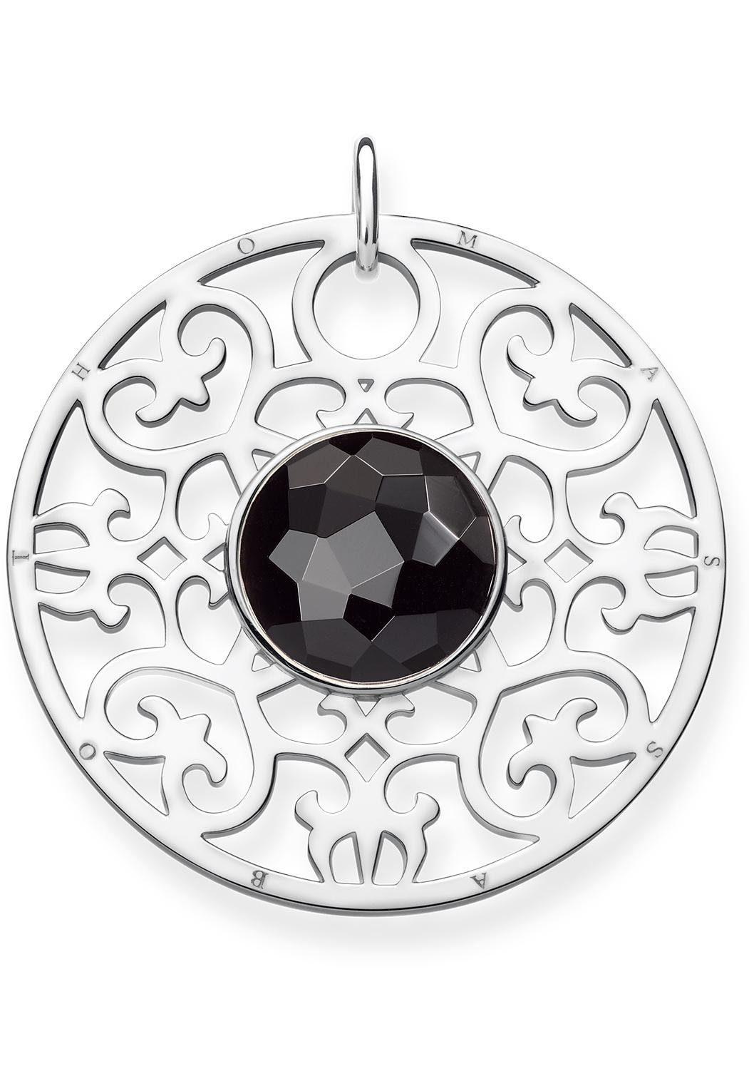 THOMAS SABO Kettenanhänger »Schwarzes Ornament, PE763-024-11« mit Onyx