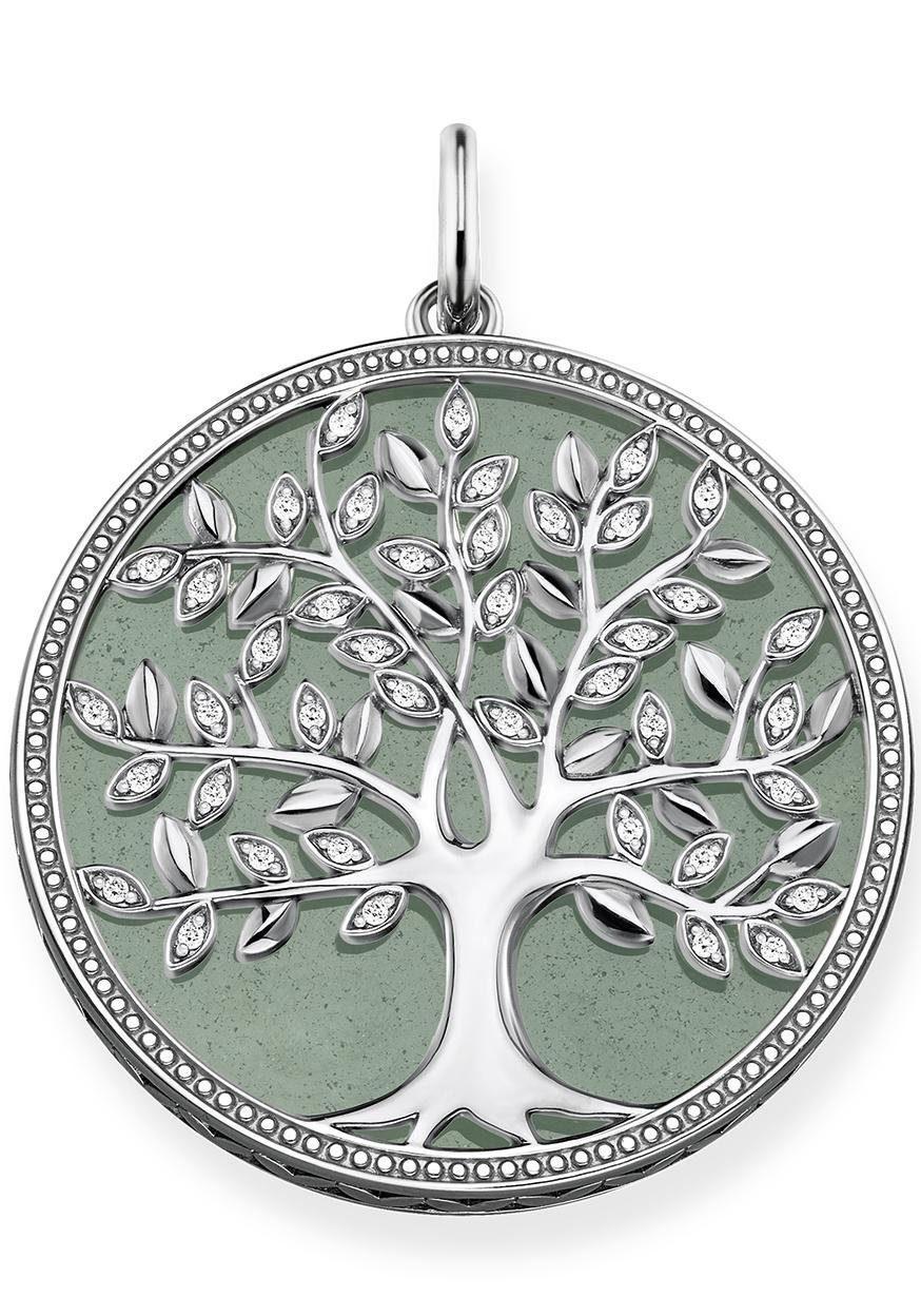 THOMAS SABO Kettenanhänger »Grüner Tree of Love, PE760-909-6« mit Aventurin und Zirkonia