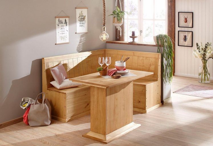 Home affaire Essgruppe »Sara«, bestehend aus Eckbank und Tisch in 2 Größen