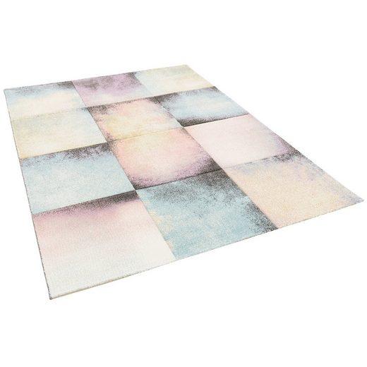 Designteppich »Designer Teppich Maui Pastell Karo Verlauf«, Pergamon, Rechteckig, Höhe 11 mm