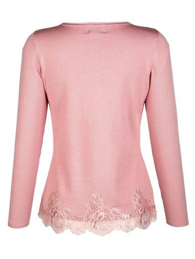 Amy Vermont Sweater With Lace And Braid At The Hem