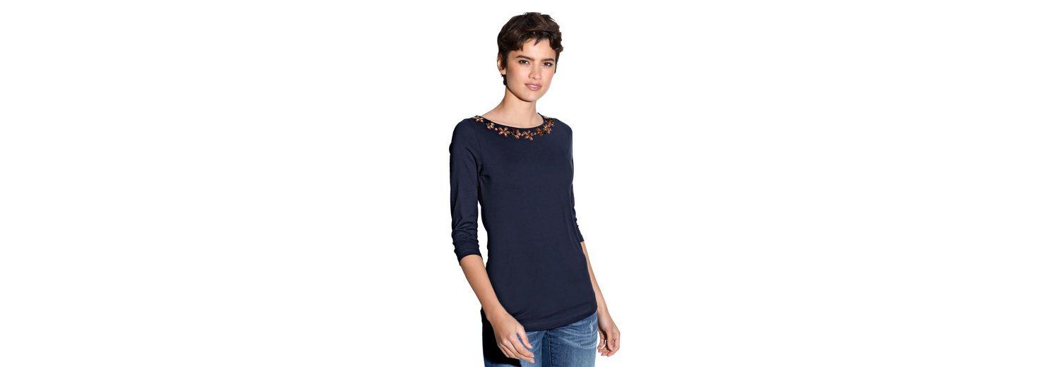 Amy Vermont Shirt mit Strass- und Perlendekoration Neueste Online Günstige Online ZhQUV