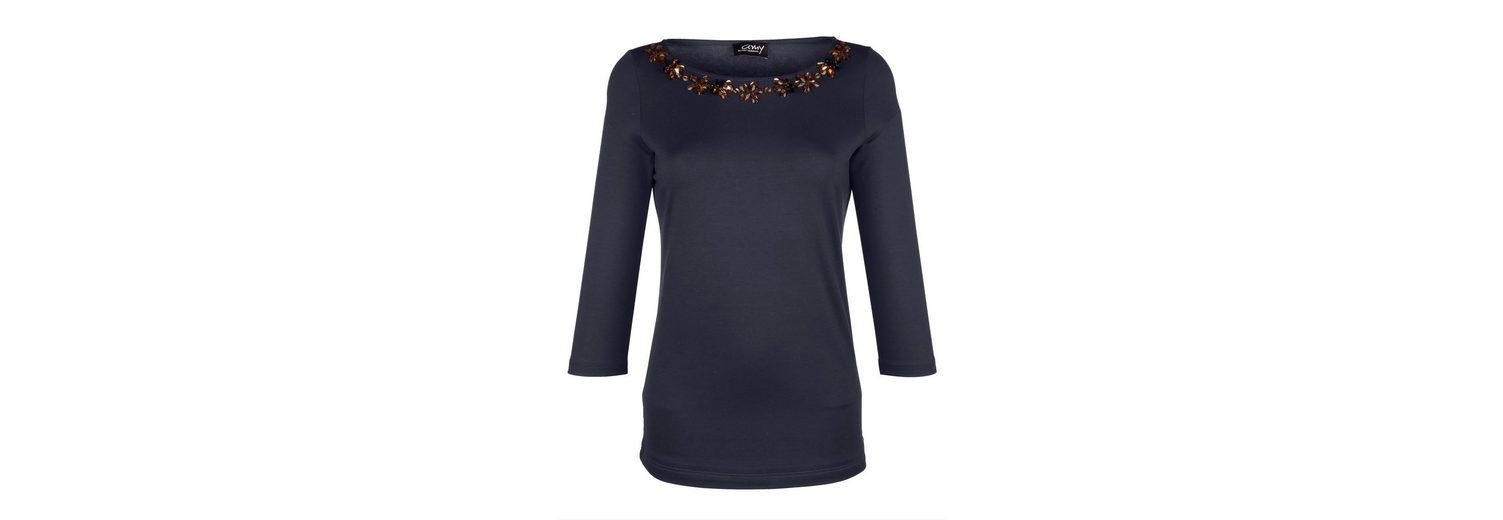 Amy Vermont Shirt mit Strass- und Perlendekoration Günstige Online YR7sS2n
