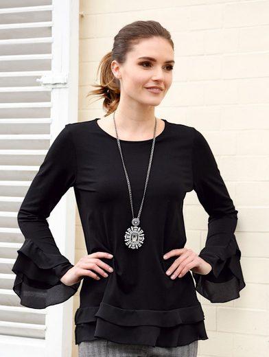 Amy Vermont Shirt With Ruffled Webbesatz