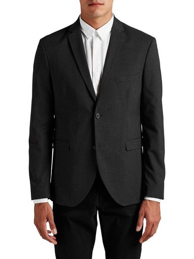 Jack & Jones Gray Blazer In Narrow Passform