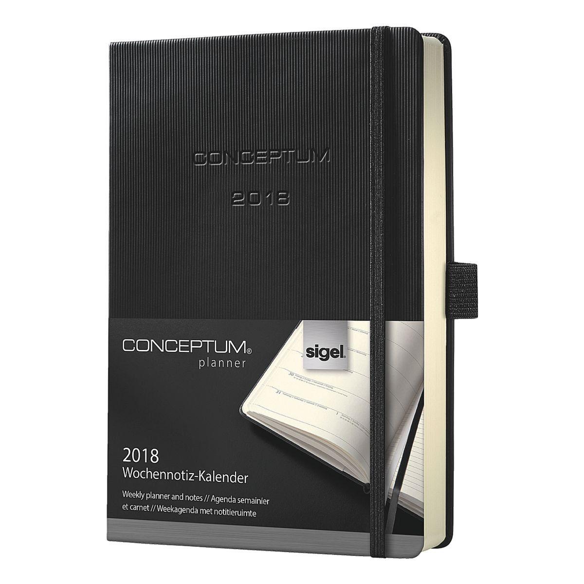 Sigel Wochennotizkalender 2018 »Conceptum«