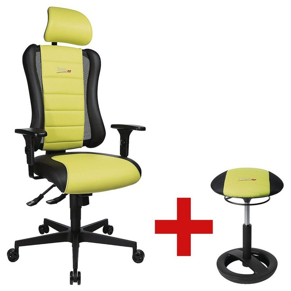 topstar b rostuhl mit kopfst tze und armlehnen inkl sitzho sitness racer rs 1 set online. Black Bedroom Furniture Sets. Home Design Ideas