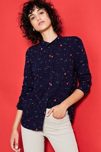 Edc By Esprit Flowing Shirt Blouse With Mini-print