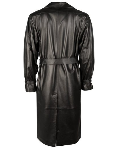 Jcc Leather Coat With A Beautiful Shirt Collar Grosado