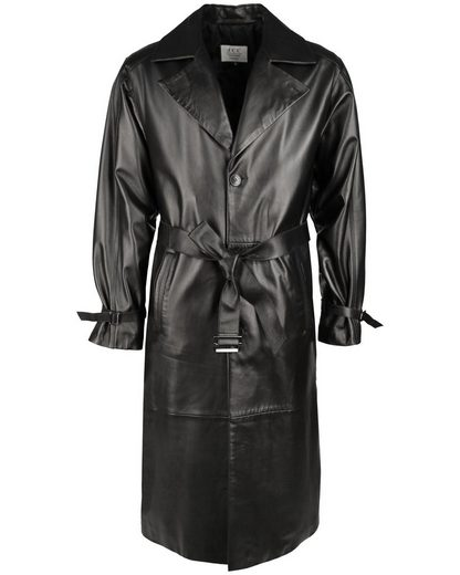 Jcc Leather Coat With A Beautiful Shirt Collar Grosado
