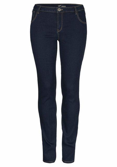 Hosen - Arizona Skinny fit Jeans »Ultra Stretch« Mid Waist › blau  - Onlineshop OTTO