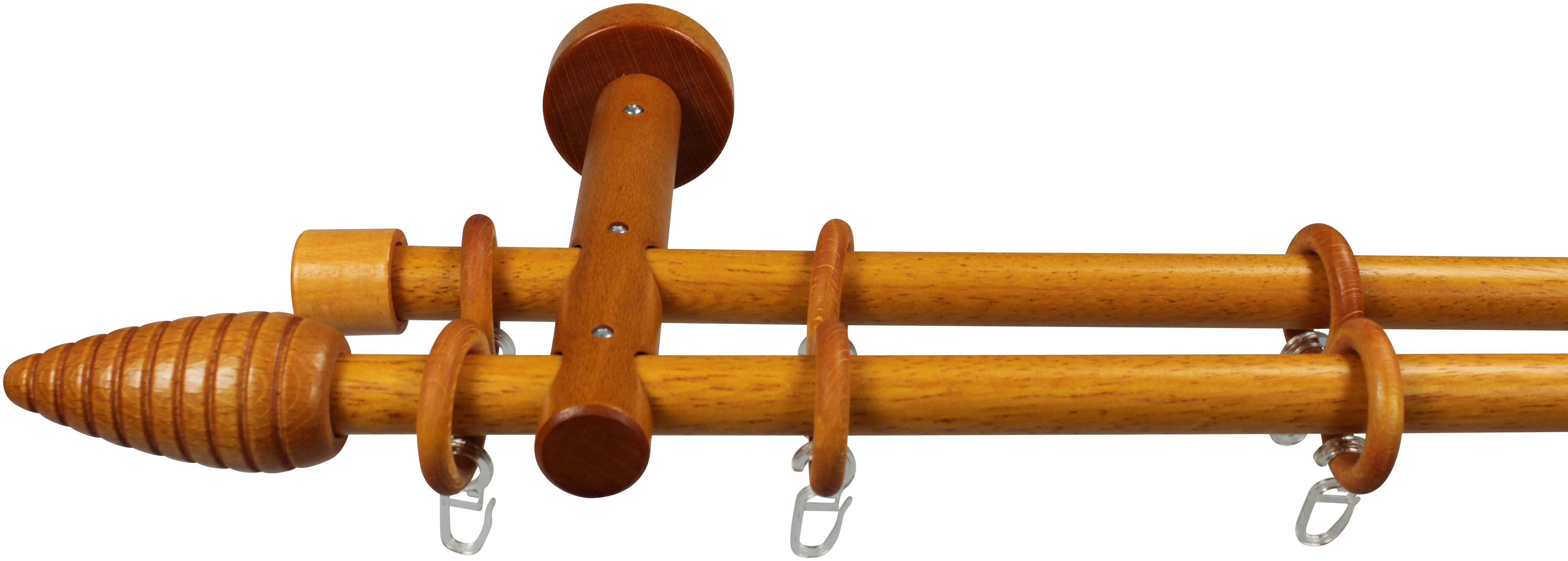 Gardinenstange, Garesa, »Esino«, 1- oder 2-läufig nach Maß, ø 20mm   Heimtextilien > Gardinen und Vorhänge > Gardinenstangen   Holz - Metall   GARESA