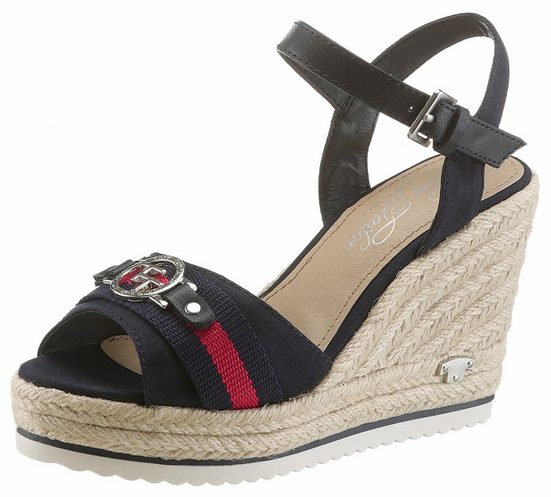 Keilabsatz Sandalette Tom Tailor Jutebezug Mit qExwSBO