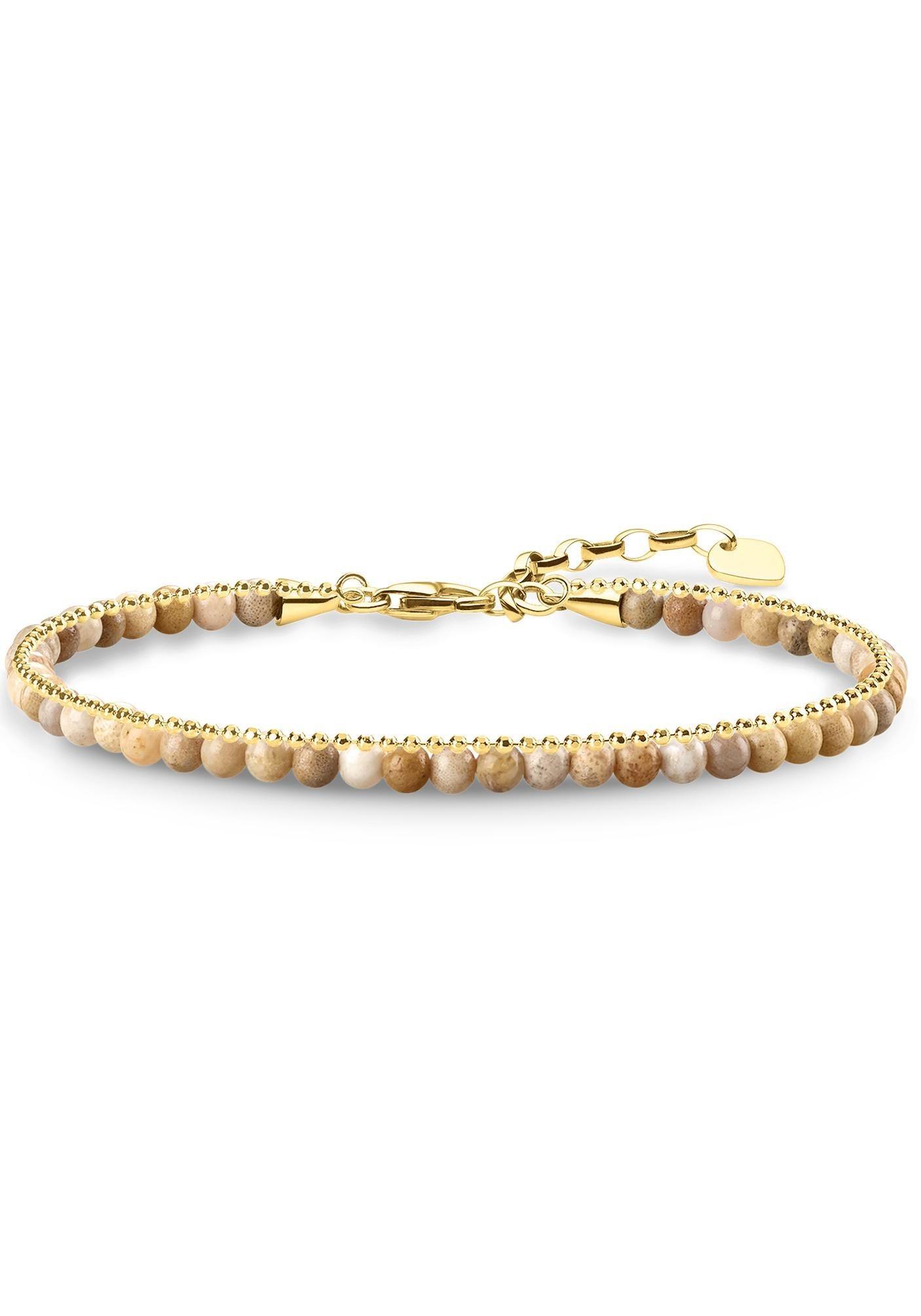THOMAS SABO Armband »Beige, A1715-075-19-L19v«, mit Jaspis | Schmuck > Armbänder > Sonstige Armbänder | Silber | THOMAS SABO