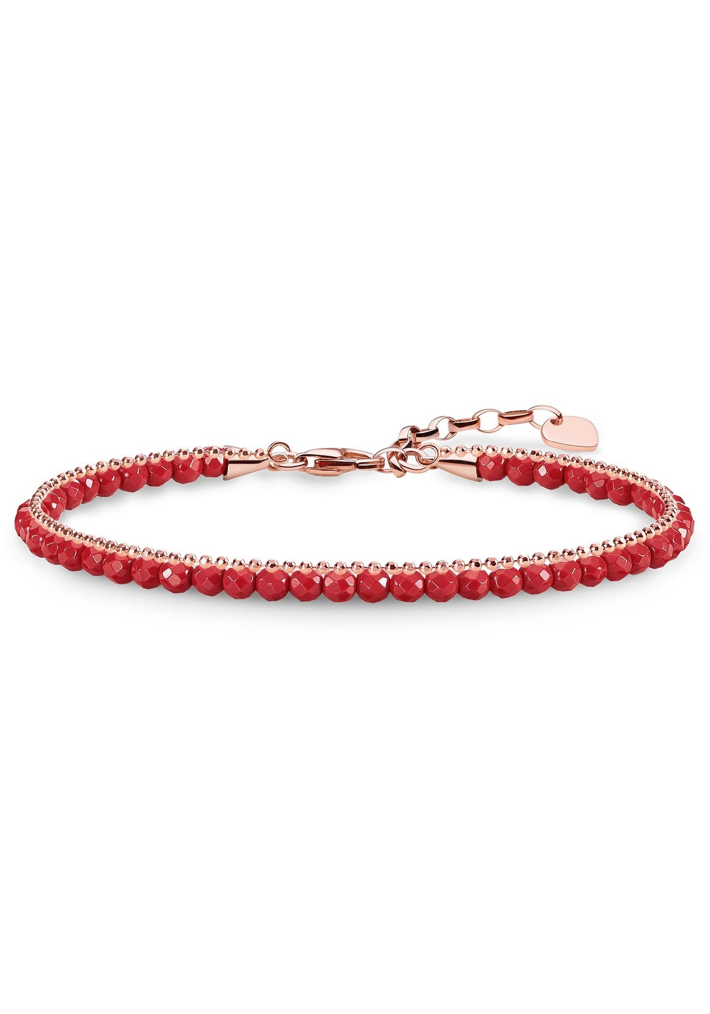 THOMAS SABO Armband »Rot, A1717-109-10-L19v« mit imit. Korallen