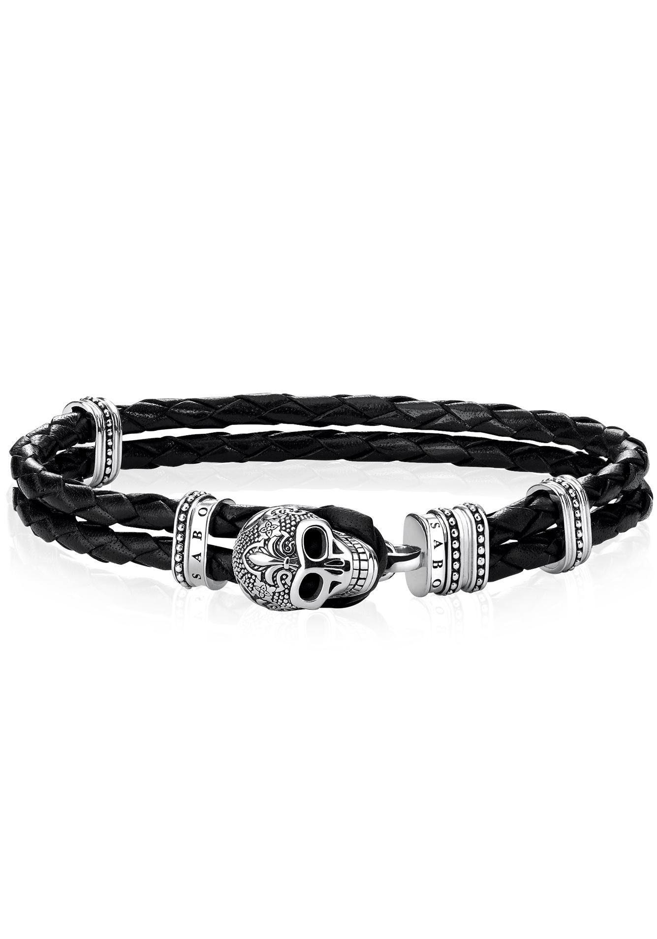 THOMAS SABO Armband »Totenkopf mit Lilie, A1697-823-11-L18,5«