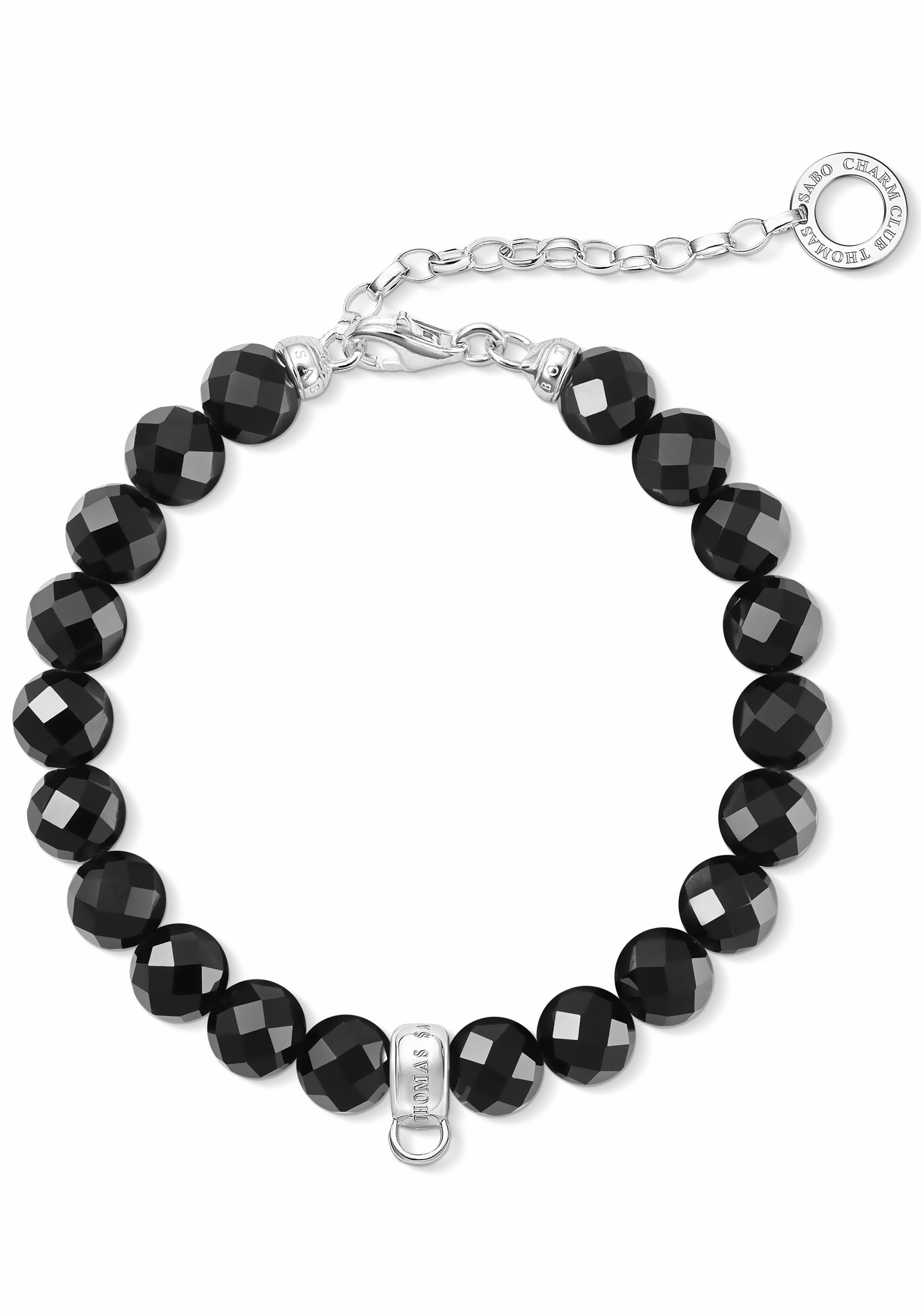 THOMAS SABO Charm-Armband »Schwarz, X0226-840-11-L18,5v« mit Obsidian