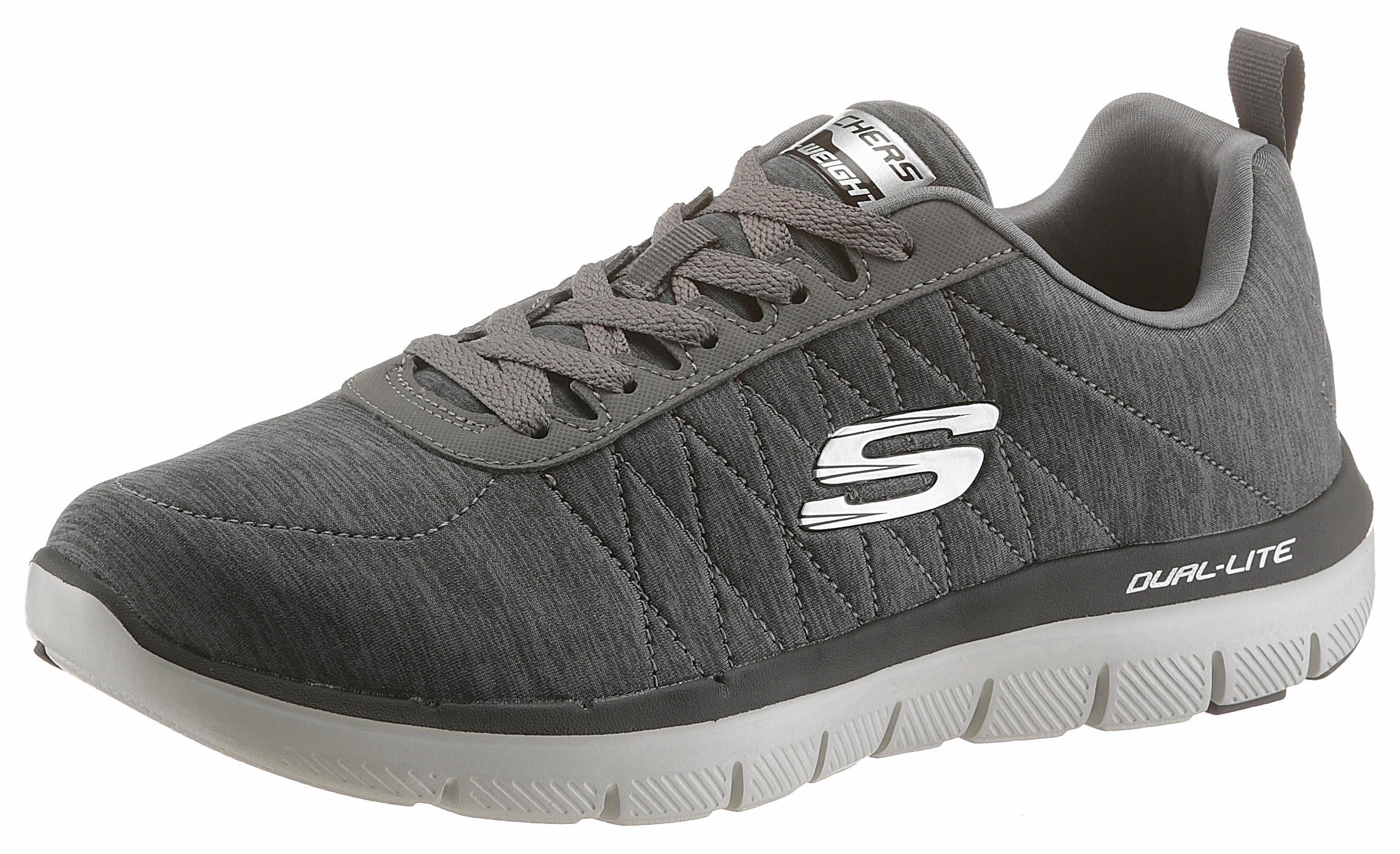 Skechers Sneaker, mit stylischem Muster an der Ferse online kaufen  grau