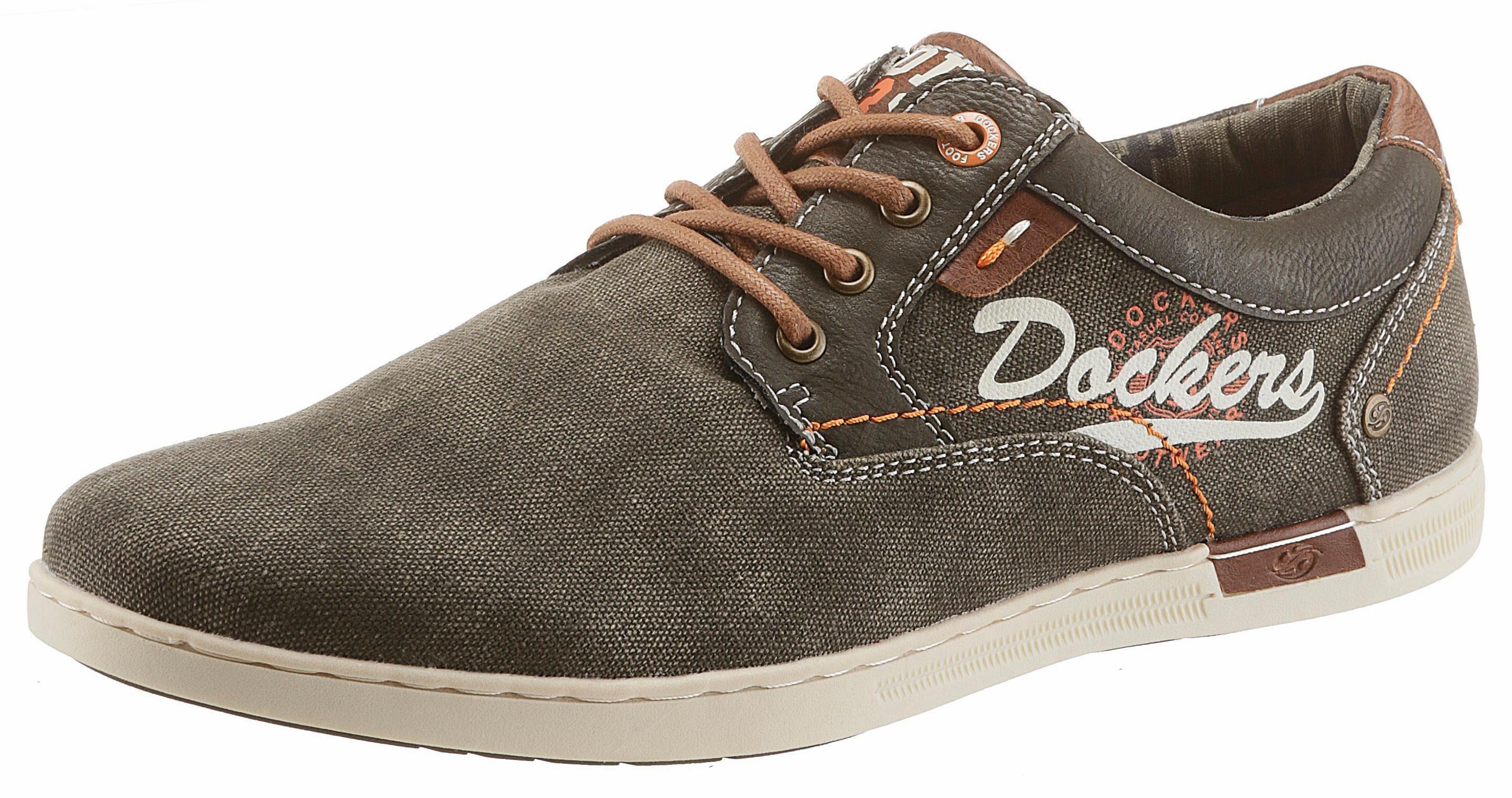 Dockers by Gerli Sneaker, mit seitlicher Logo-Applikation online kaufen  khaki
