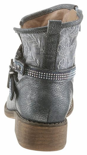 Arizona Stiefelette, im Metallic-Look