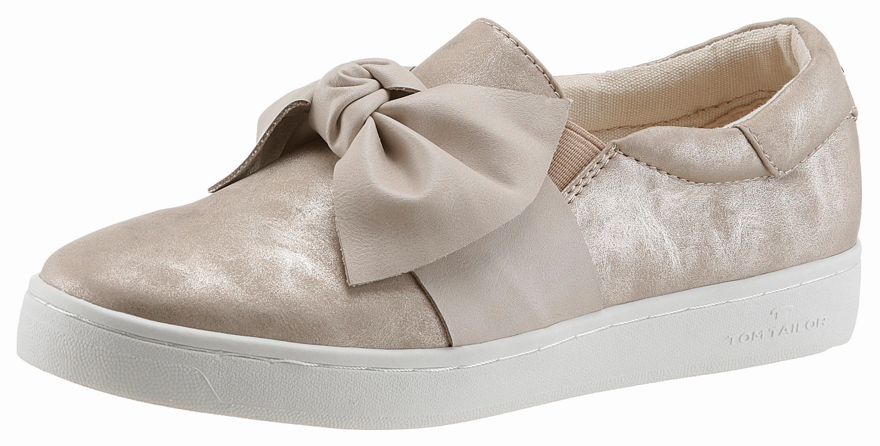 Tom Tailor Slipper, mit Zierschleife online kaufen  goldfarben