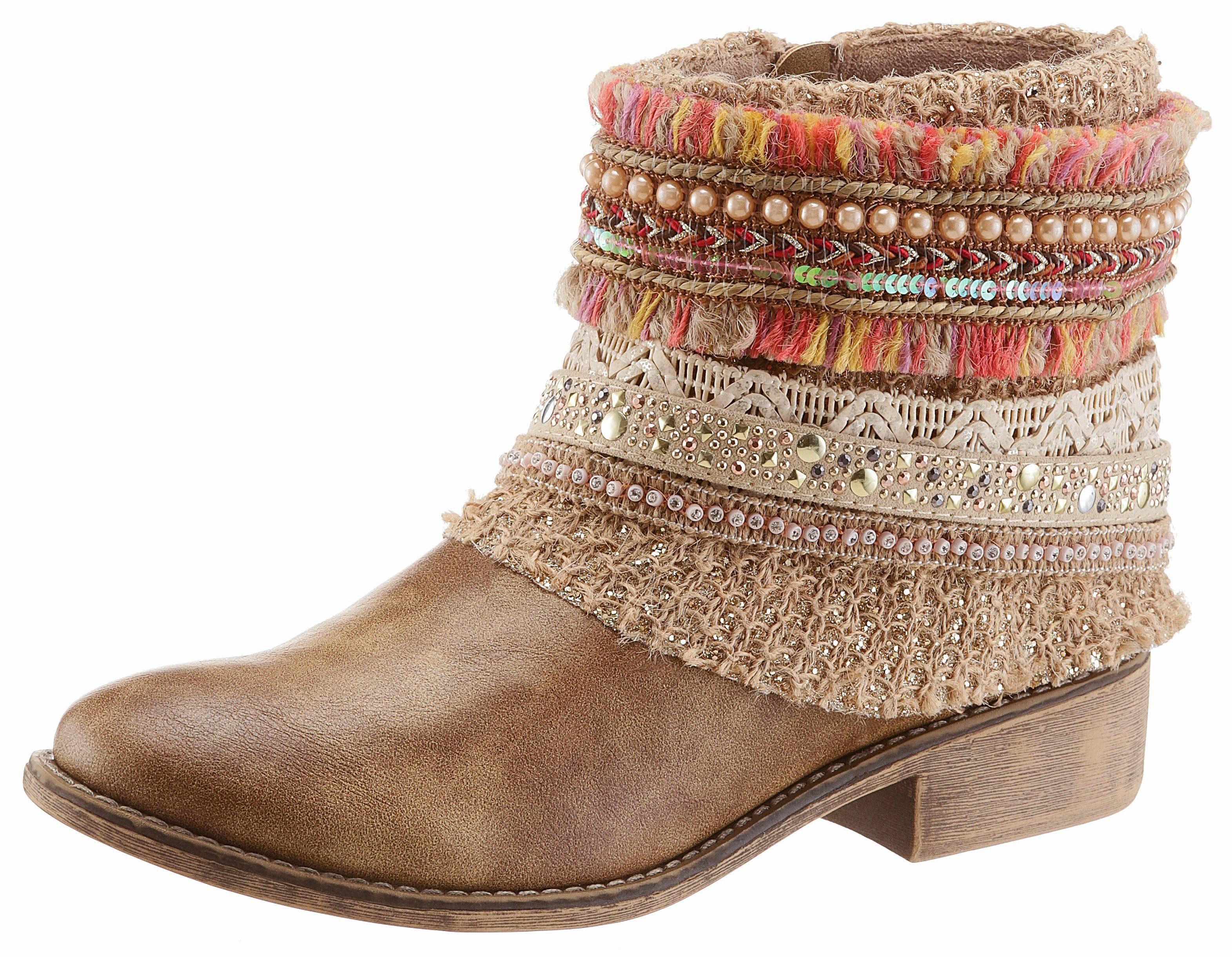 Arizona Stiefelette, im Boho-Style online kaufen  braun