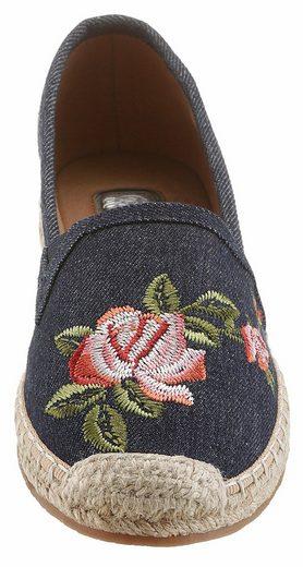 Tom Tailor Espadrille, mit angesagter Blüten-Stickerei