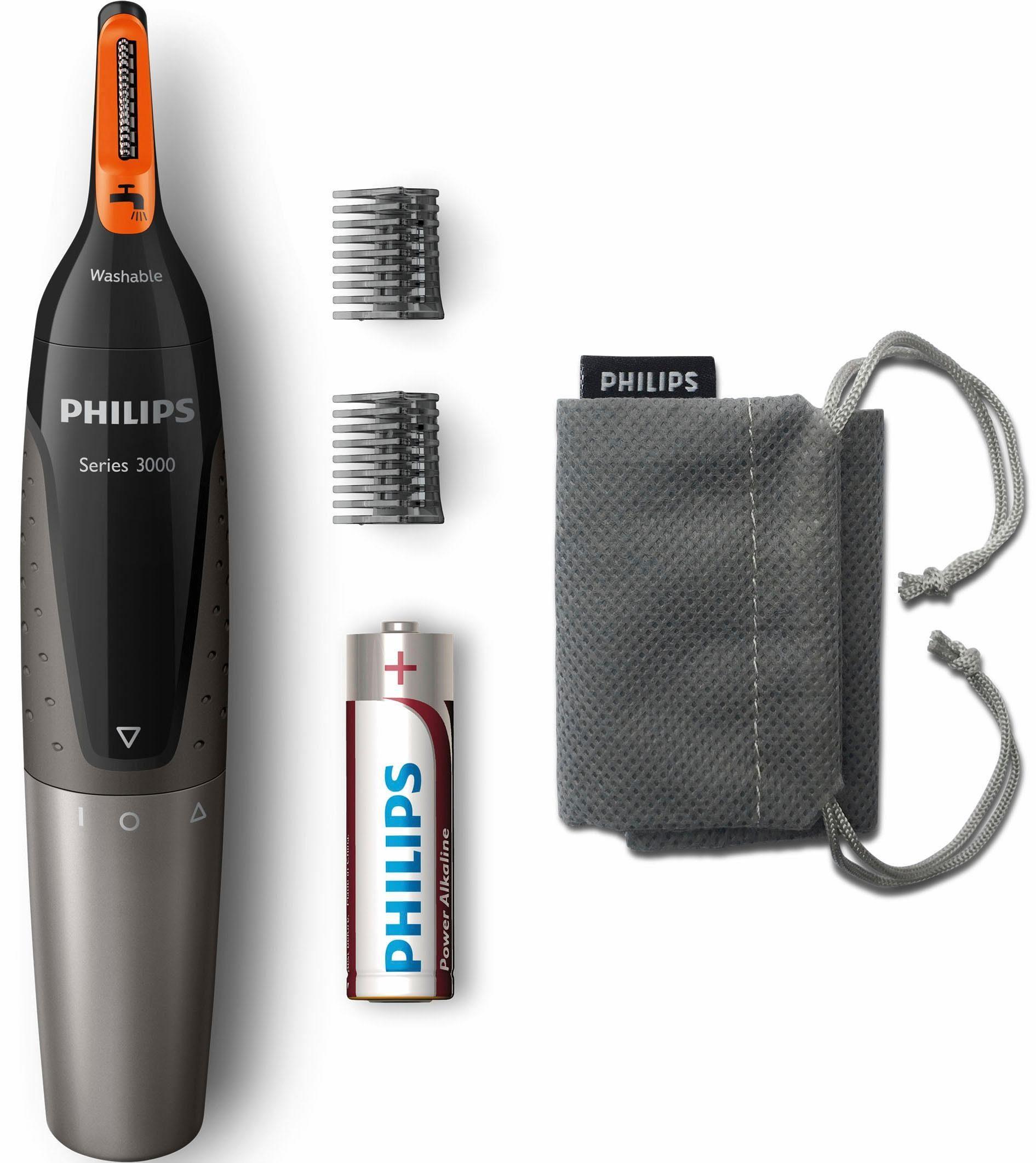 Philips Nasen- und Ohrhaartrimmer NT3160/10, ProtecTube-Technologie