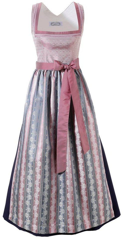 Damen Hannah  Dirndl lang mit Karreeausschnitt rosa | 09009579019070
