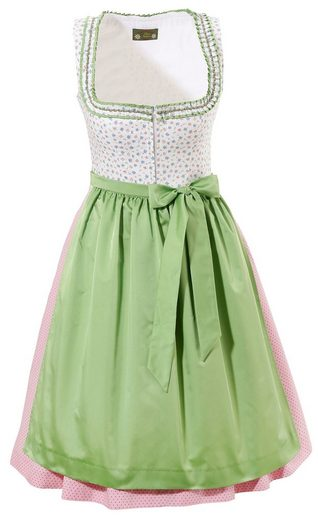 Love Nature Dirndl midi in frischer Fabkombination
