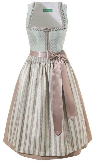 Country Line Dirndl Apron Patterned Midi