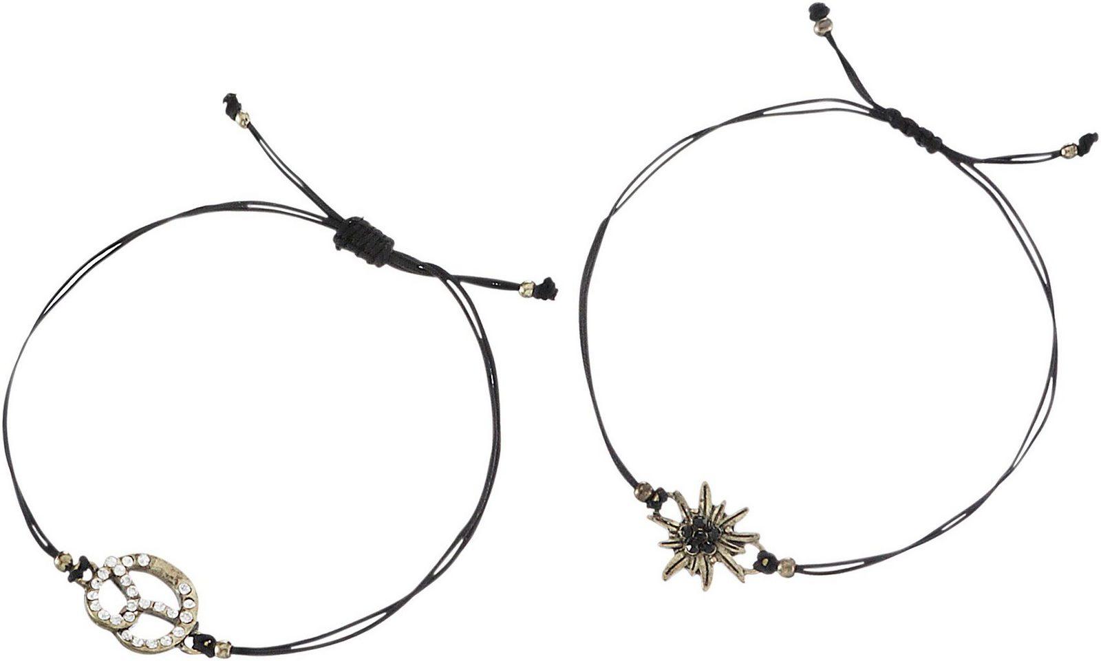 Alpenflüstern Trachtenarmband Damen mit Ziehverschluss - broschei