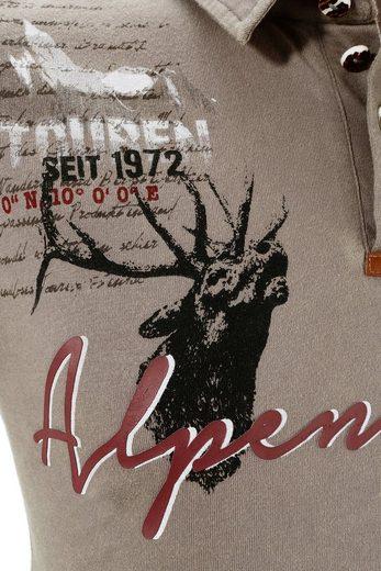 Marjo Trachtenshirt Herren mit Stickerei