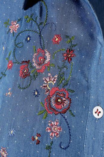 Country Line Trachtenbluse Damen mit Blumenstickerei