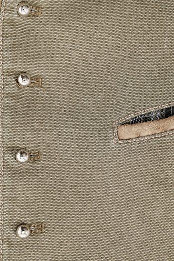 Os-seek Trachtengilet Men With Embroidered Stehkragen